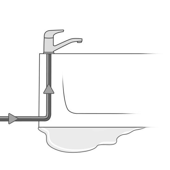 Réparation de l'arrivée d'eau d'une baignoire