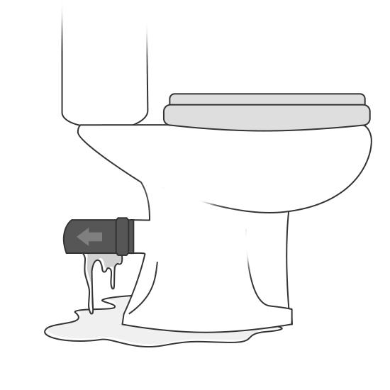 Fuite sur une évacuation de WC
