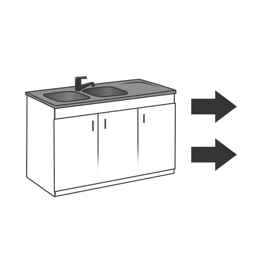 modification des canalisation pour déplacer un évier