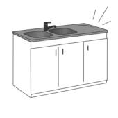 remplacement d'un meuble d'évier