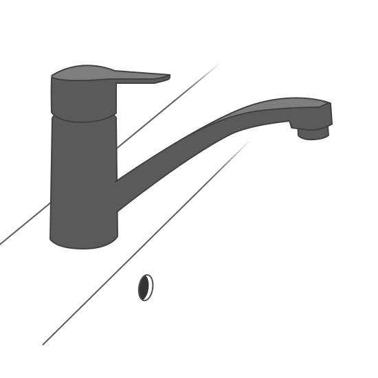 Mitigeur d'évier