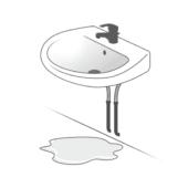Arrivée d'eau lavabo fuite
