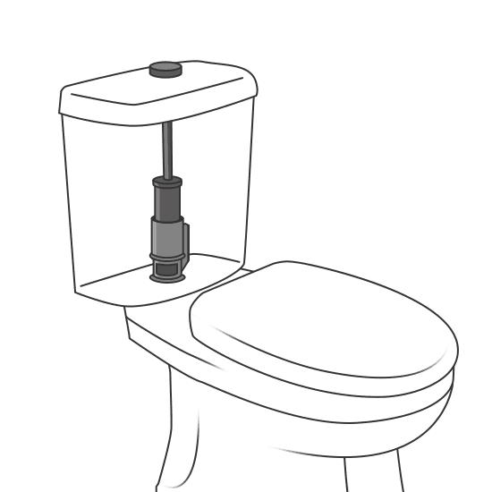 Remplacement d'une chasse d'eau de WC
